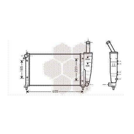 radiateur moteur fiat punto année: 1999-2001 version