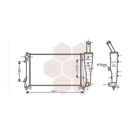 radiateur moteur fiat punto année: 2003-2009 version