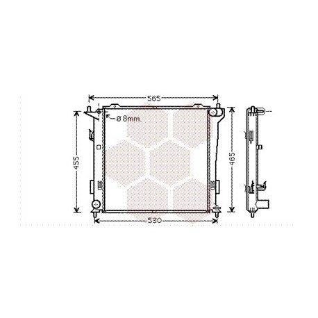 radiateur moteur pour hyundai i30 version : 1.6 crdi de