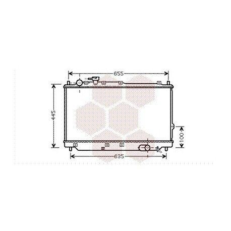 radiateur moteur pour kia carrens version : 1.8 i 16v / 2