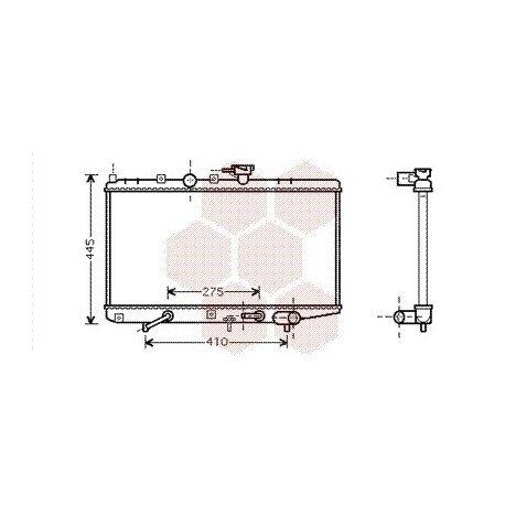 radiateur moteur pour kia rio version : 1.3 8v / 1.5 16v