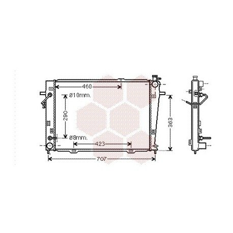 radiateur moteur pour kia sportage version : 2.0 crdi