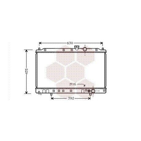 radiateur moteur pour mitsubishi lancer version : 1.8i 16v