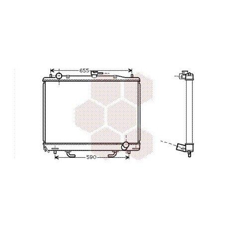 radiateur moteur pour mitsubishi pajero version : 3.2
