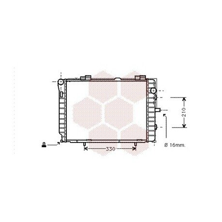 radiateur moteur pour mercedes classe clk w208 version