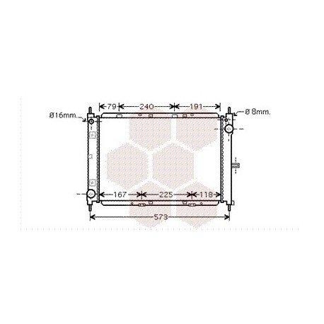radiateur moteur pour nissan micra k12 version : 1.5 dci