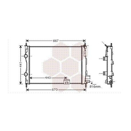 radiateur moteur pour nissan qashqai version : 1.5 dci de