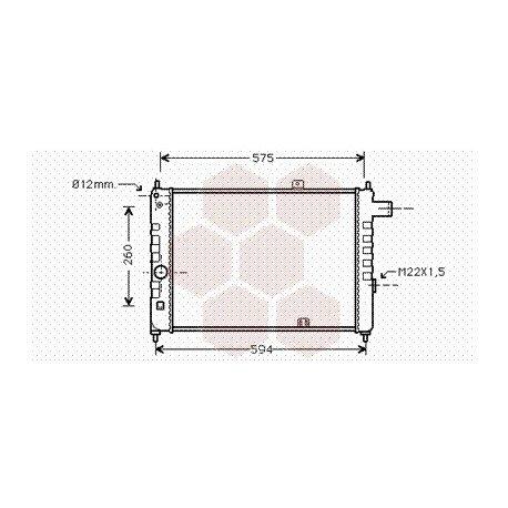 radiateur moteur pour opel kadett d version : 1.6 / 1.8
