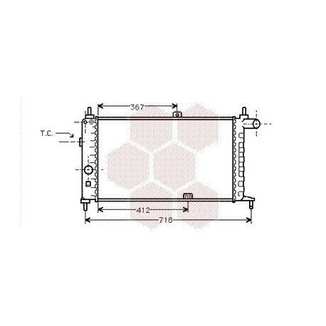 radiateur moteur pour opel kadett e version : 1.6i / 1.6 l