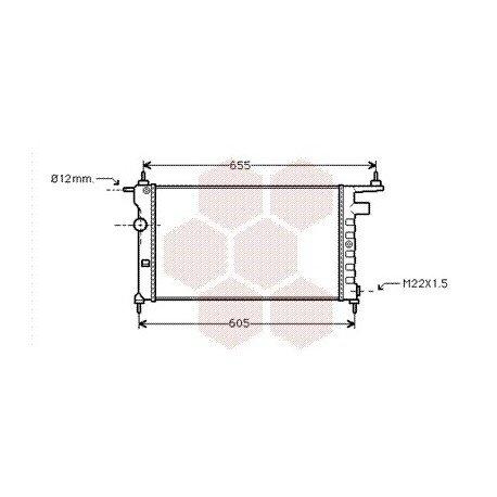 radiateur moteur pour opel tigra version : 1.4 / 1.6 de