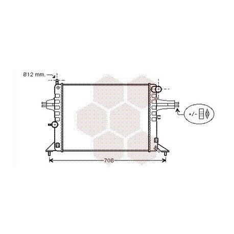 radiateur moteur pour opel zafira version : 1.6 / 1.9 de