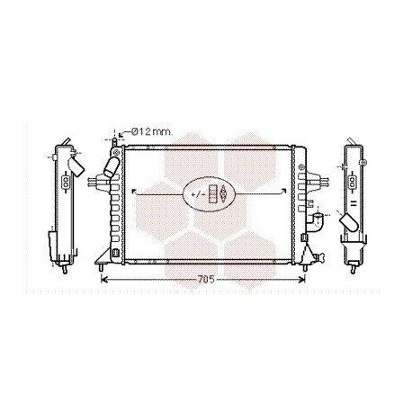radiateur moteur pour opel zafira version : 1.7 dti de