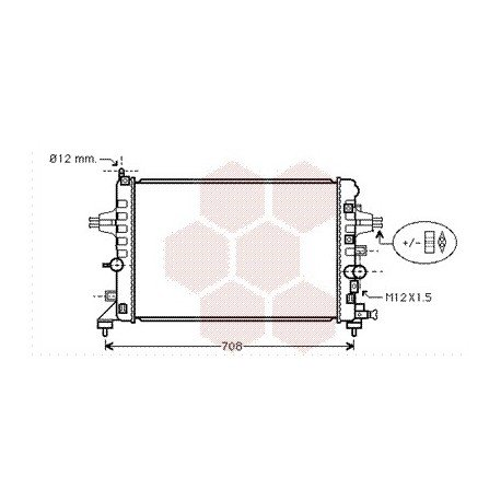 radiateur moteur pour opel zafira version : 1.6 / 1.8 de