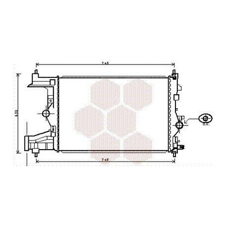 radiateur moteur pour opel zafira tourer version : 1.4i