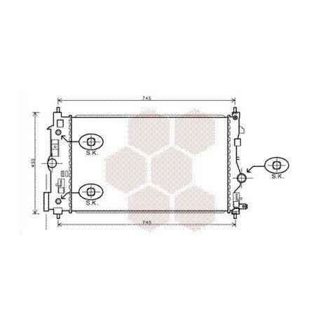 radiateur moteur pour opel zafira tourer version : 2.0