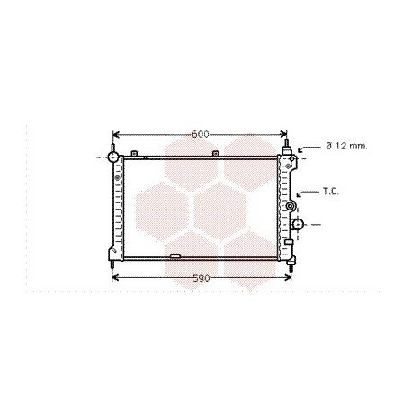 radiateur moteur pour opel astra f version : 1.7 turbo
