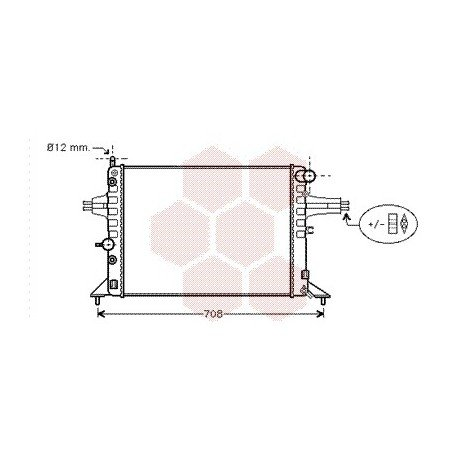 radiateur moteur pour opel astra g version : 1.4 / 1.6 16v