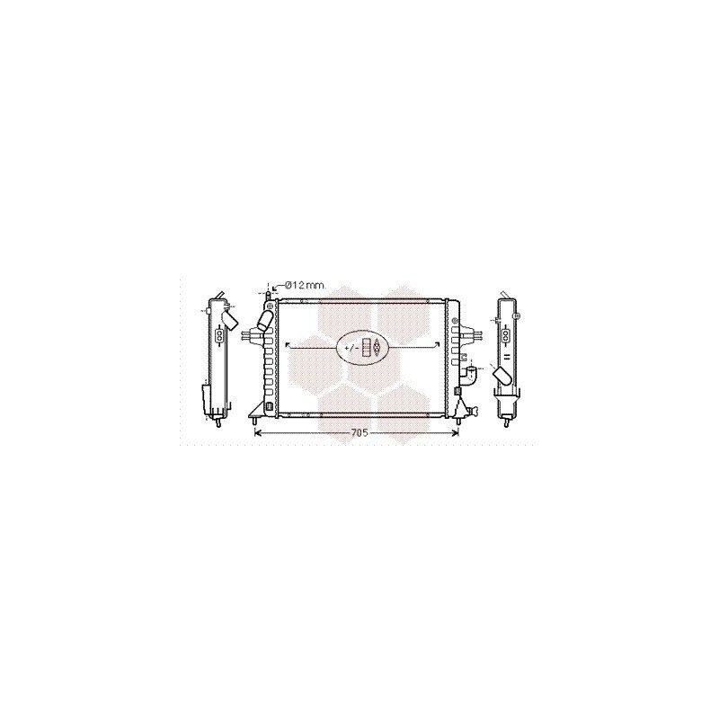 radiateur moteur pour opel astra g version : 1.7 dti / 1.7