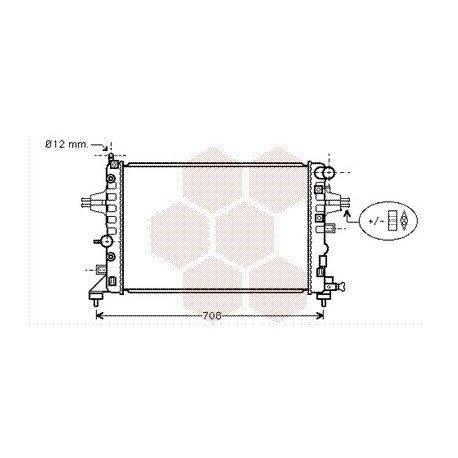 radiateur moteur pour opel astra h version : 1.2 / 1.4 / 1