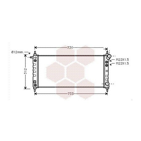 radiateur moteur pour opel corsa b version : 1.0 / 1.2 16v