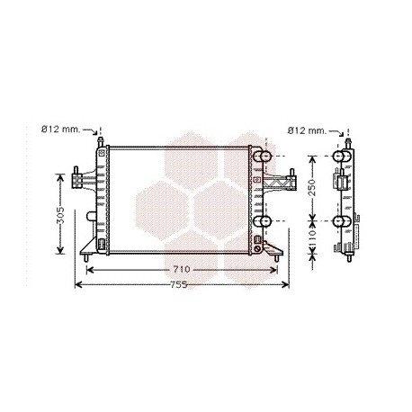 radiateur moteur pour opel corsa c version : 1.0 / 1.2 / 1