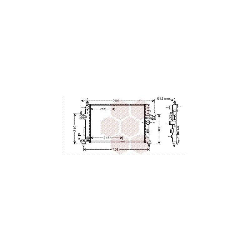 radiateur moteur pour opel corsa c version : 1.3 cdti / 1