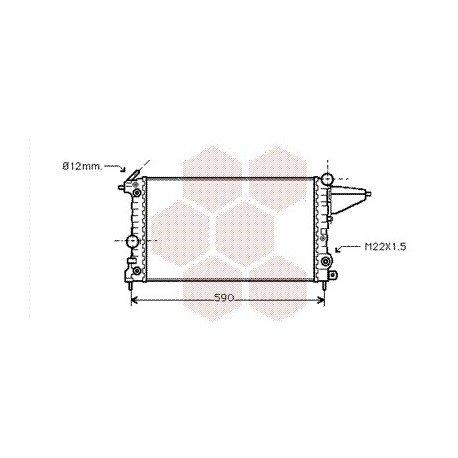 radiateur moteur pour opel vectra a version : 1.4 / 1.6