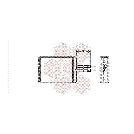 radiateur chauffage pour opel vectra b version : de sep