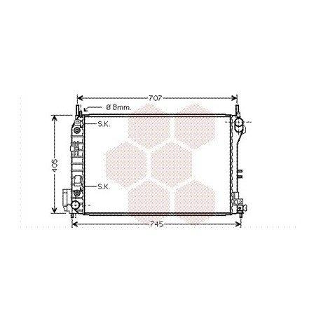 radiateur moteur pour opel vectra c version : 2.2 / 3.2