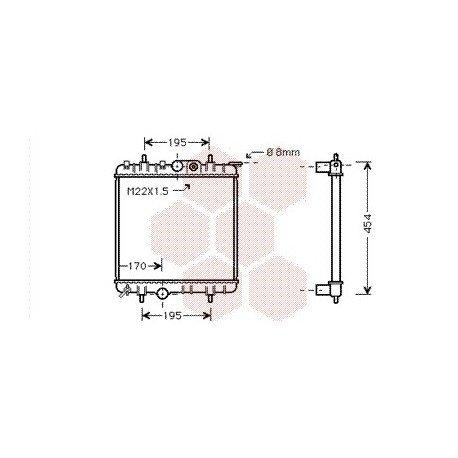 radiateur moteur pour peugeot 206 version : 1.1 / 1.4 / 1
