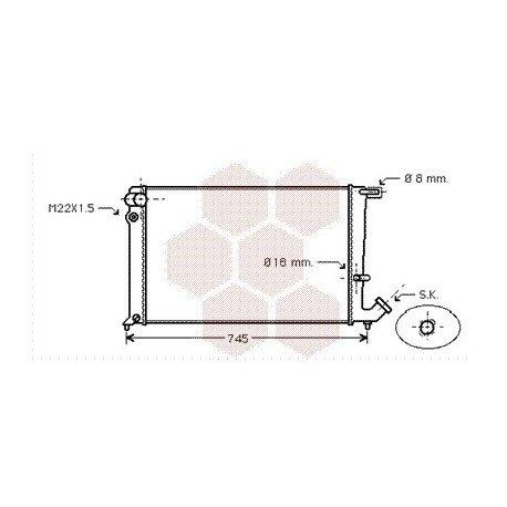 radiateur moteur pour peugeot 306 version : 1.8 diesel / 1