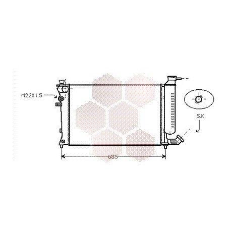 radiateur moteur pour peugeot 306 version : 1.4 / 1.6 / 1