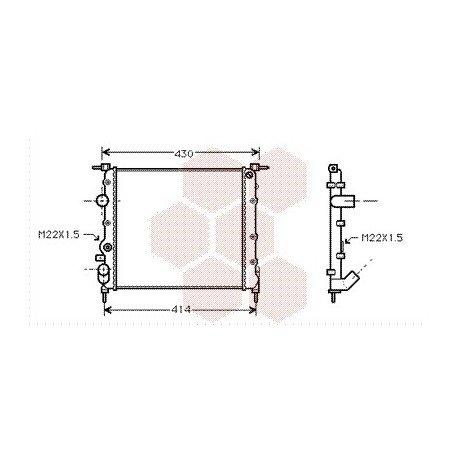 radiateur moteur pour renault clio version : 1.2 8v de