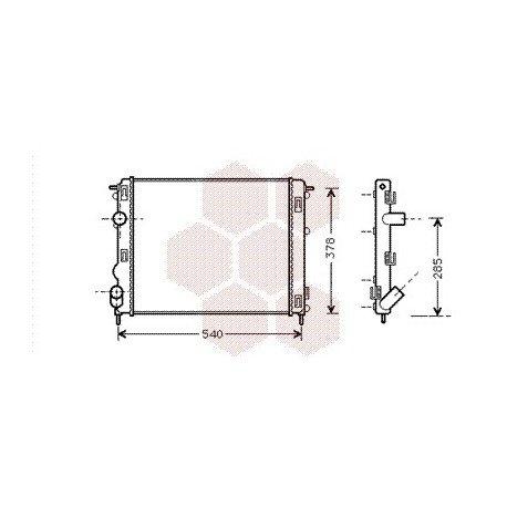 radiateur moteur pour renault clio version : 1.2 16v / 1.4