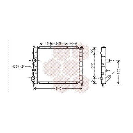 radiateur moteur pour renault kangoo version : 1.9 diesel