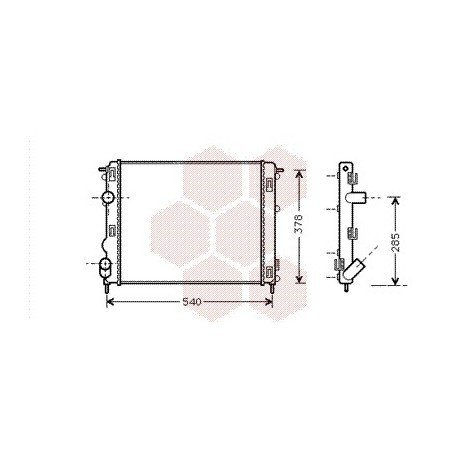 radiateur moteur pour renault kangoo version : 1.2 8v / 1