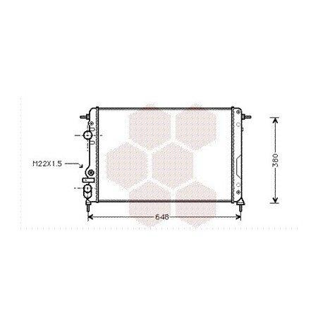 radiateur moteur pour renault scénic version : 1.4 8v / 1