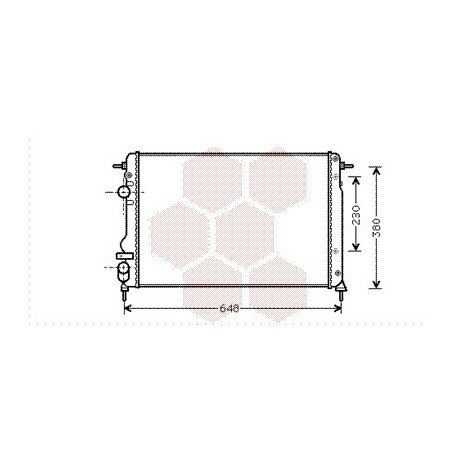 radiateur moteur pour renault scénic version : 1.9 dci de
