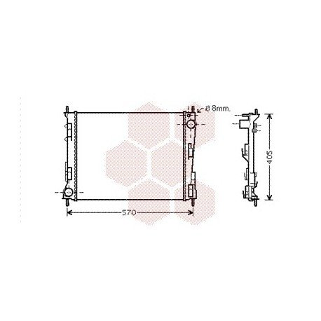 radiateur moteur pour renault twingo version : 1.2 / 1.6