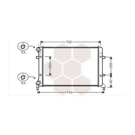 radiateur moteur pour skoda octavia version : 1.4 / 1.6 de