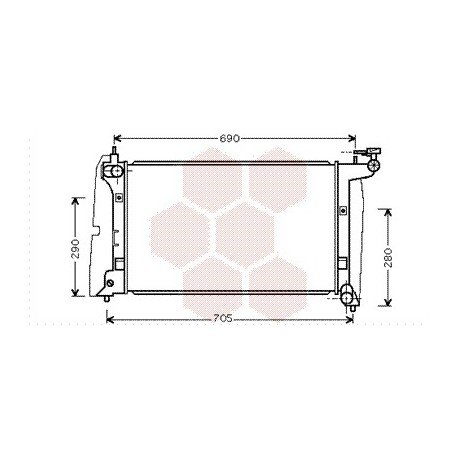 radiateur moteur pour toyota corolla verso version : 1.6i