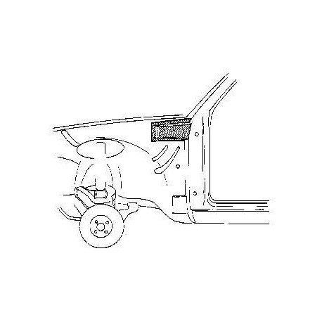 Renfort de montant de porte gauche pour Opel Kadett C