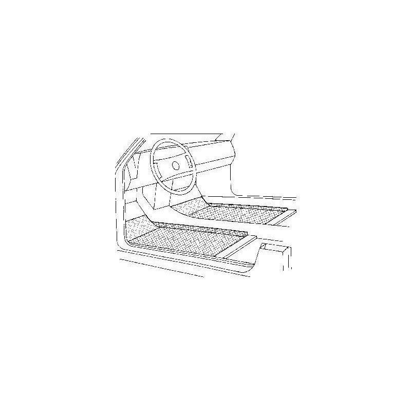Plancher interieur droit pour Austin Mini jusqu'a 2002
