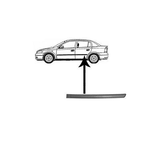 Moulure de porte arrière gauche pour Opel Astra G de 1998