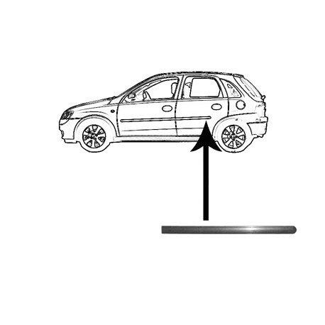 Moulure de porte arrière gauche pour Opel Corsa C de sept