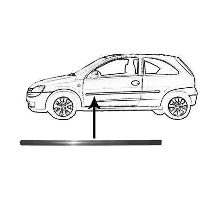 Moulure de porte avant gauche pour Opel Corsa C de sept
