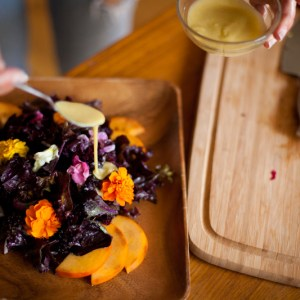 Flower Power Purple Kale Salad