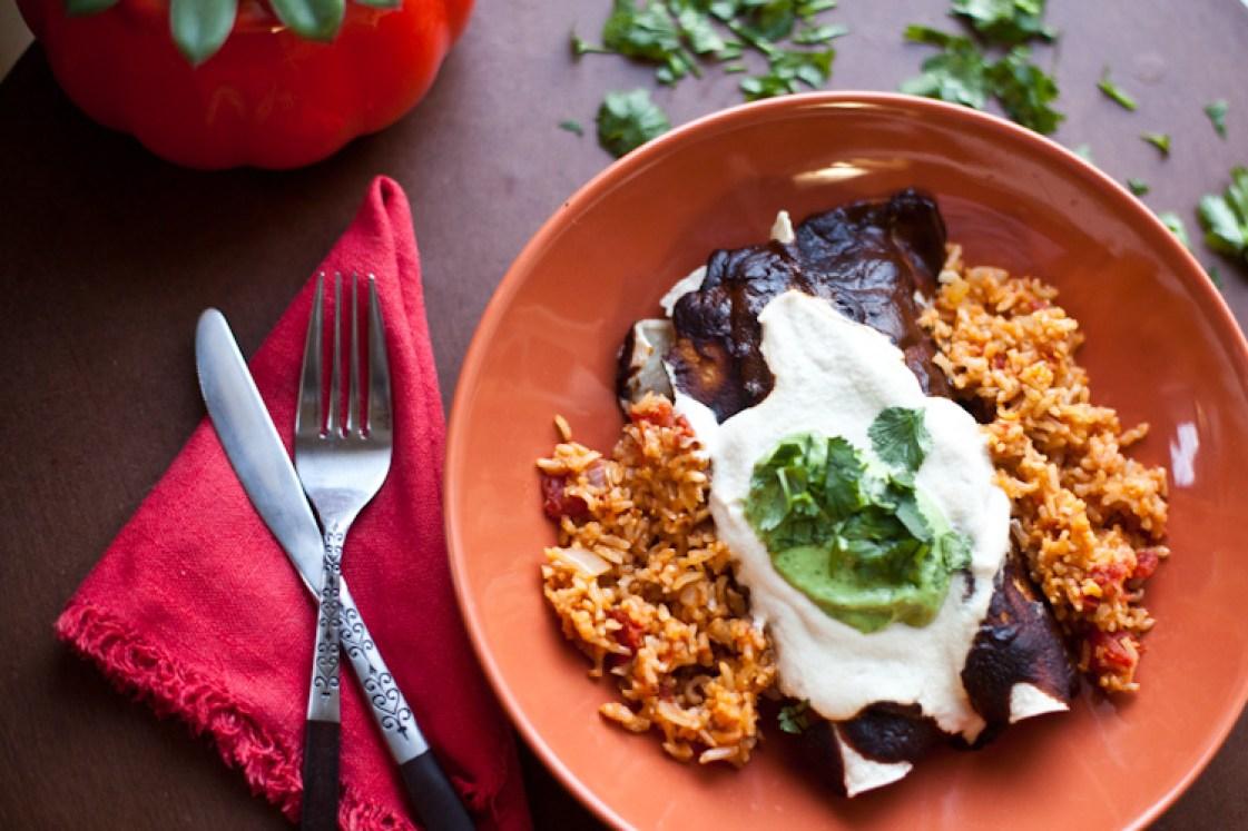 Vegan Mole Enchiladas