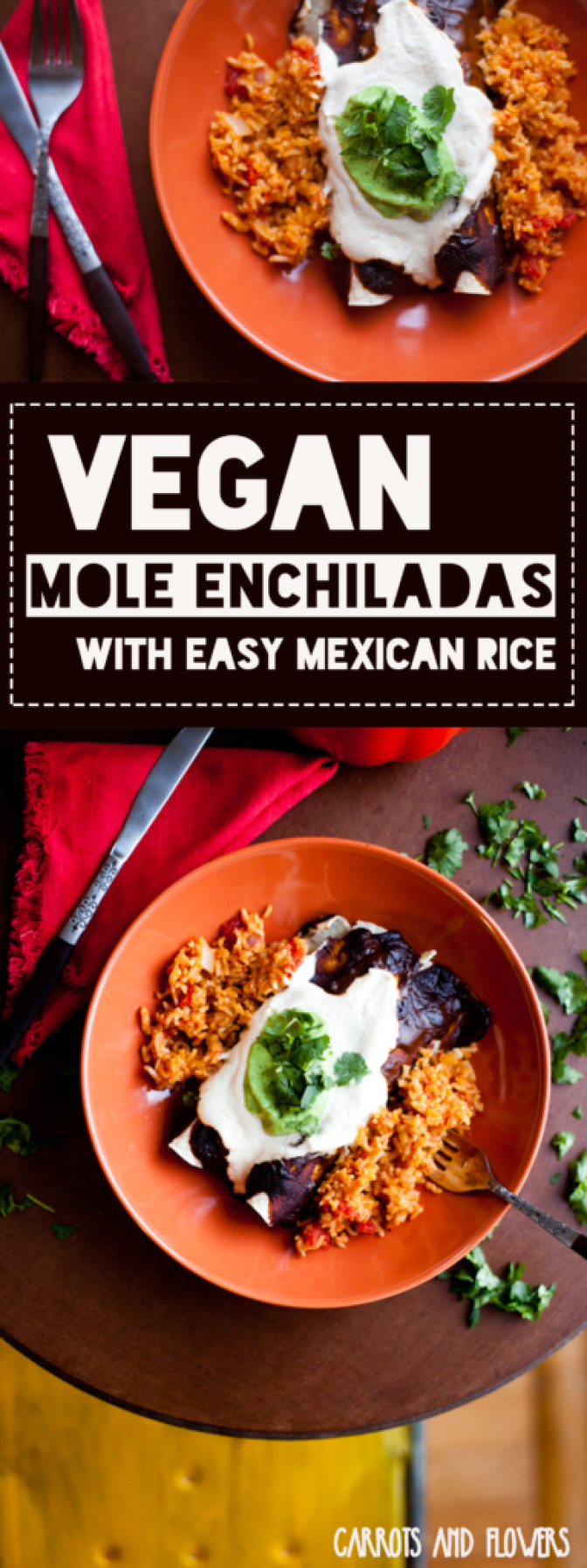 The BEST Vegan Enchiladas | Mole Enchiladas with Easy Mexican Rice | Family Dinner Recipe |