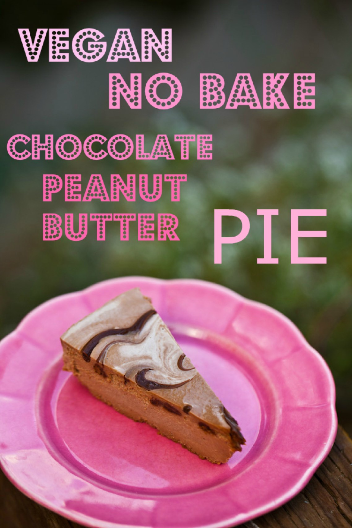 No Bake Vegan Chocolate Peanut Butter Pie